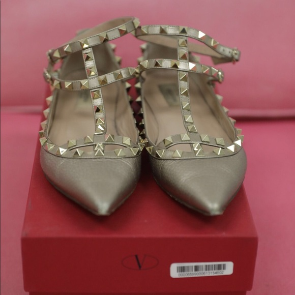 Valentino Shoes - Valentino Rockstud in Gold